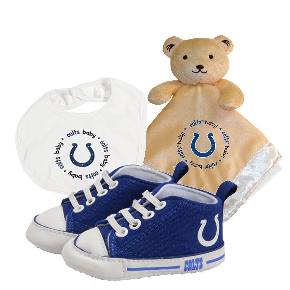 Indianapolis Colts nfl幼児毛布よだれかけと靴デラックスセット B00TADXMHQ