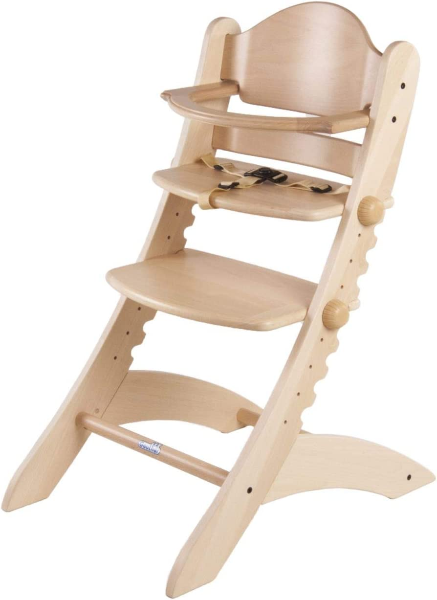 Geuther Swing 2355 NA High Chair Natural Plain Wood
