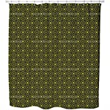 Uneekee Yellow Paradies Shower Curtain: Large Waterproof Luxurious Bathroom Design Woven Fabric