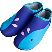 Janly® Children Swimming Fins Diving Socks Quick-Drying Skin Shoes Aqua Shoes Beach Water Sport Shoes Flat Seaside Shoes