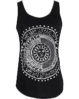 Yoyorule Sexy Women Sun Printed Sleeveless Vest Tee Shirt Blouse Casual Tank Top