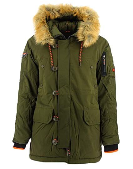 Superdry SDX Green Parka L at Amazon Men's Clothing store