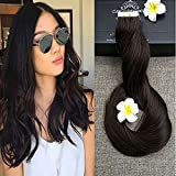 "Full Hair 22"" Dark Brown (#2) 40 Pcs 100g Per Set Pu Tape in 100% Remy Human Hair Extensions Fashion Tape in Hair Extensions"