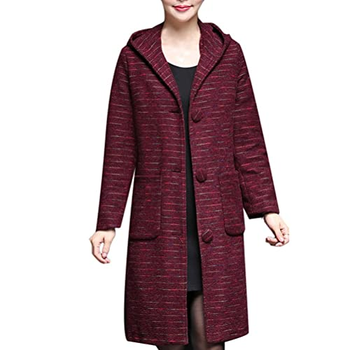 Zhhlinyuan Casual Lab Jackets Fitted Designer Warm Winter Outerwear Coats with Hood Abrigos de Mujer...