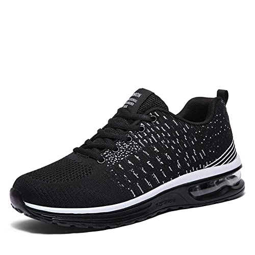 4eacbc14066 tqgold® Hommes Femme Basket Chaussures de Sports Running Course Fitness Gym  Mode Sneakers(Noir