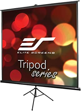 Elite Screens Tripod Adjustable Multi Aspect Ratio Portable Pull Up Projection Projector Screen T113NWS1 113-inch