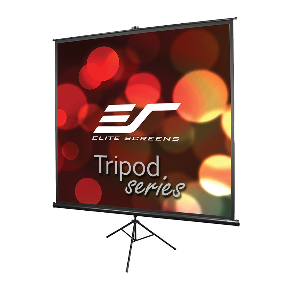 Elite Screens Tripod Series, 50-INCH 1:1, Adjustable Multi Aspect Ratio Portable Indoor Outdoor Projector Screen, 8K/4K Ultra HD 3D Ready, 2-YEAR WARRANTY, T50UWS1
