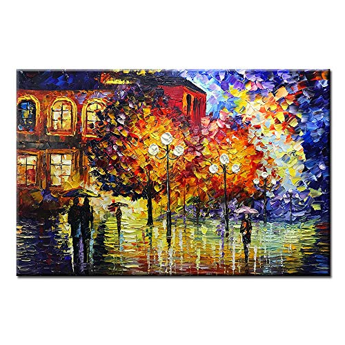 Asdam Art Paintings,24x36 inch Hand Painted Colorful Painting Wall Art Wall Picture Abstract Artwork for Home Framed