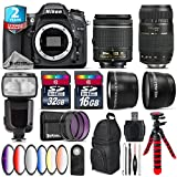 Holiday Saving Bundle for D7100 DSLR Camera + Tamron 70-300mm Di LD Lens + AF-P 18-55mm + Flash with LCD Display + 6PC Graduated Color Filter Set + 2yr Extended Warranty - International Version