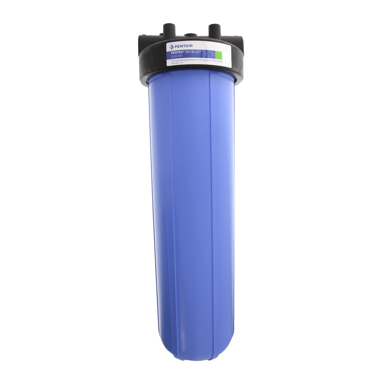 "Pentek 150467 20-BB 3/4"" Big Blue Filter Housing with Pressure Relief"