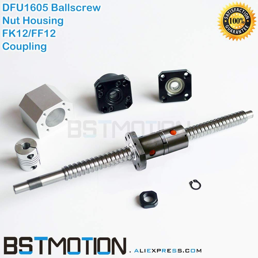 BallScrew Antibacklashed RM1605-1500mm+BK12//BF12 End Support+6.35x10mm Couplers