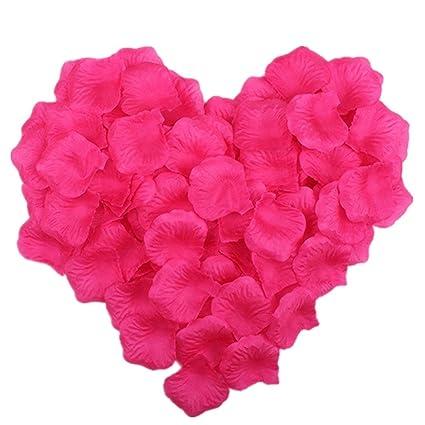 Amazon vivianbuy 1000 pcs artificial silk flower hot pink rose vivianbuy 1000 pcs artificial silk flower hot pink rose petals for wedding party bridal decoration mightylinksfo