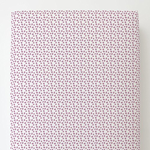 Carousel Designs Amethyst Pebbles Toddler Bed Sheet Fitted (Amethyst Pebble)