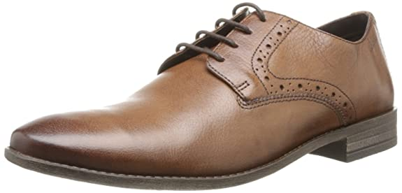 Clarks Men's Chart Walk Leather Formals and Lace-Up Flats Men's Formal Shoes at amazon