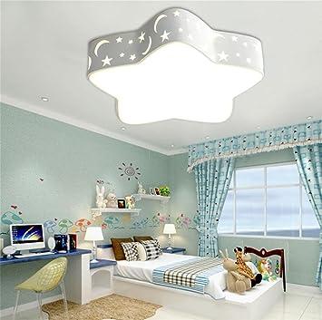 BDE Dormitorio para niños Luces LED lámparas de Techo Simple Dibujos Animados Sala Creativa Sala de iluminación, White