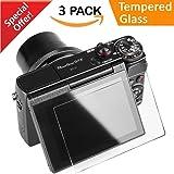 Glass Screen Protector for Canon G7X Mark II G9X G7X G5X, CAVN 3 Packs Anti-scratch Waterproof HD-Clear 9H Tempered Glass Screen Protector for G9X Mark II G7X G7XII G5X DSLR Camera