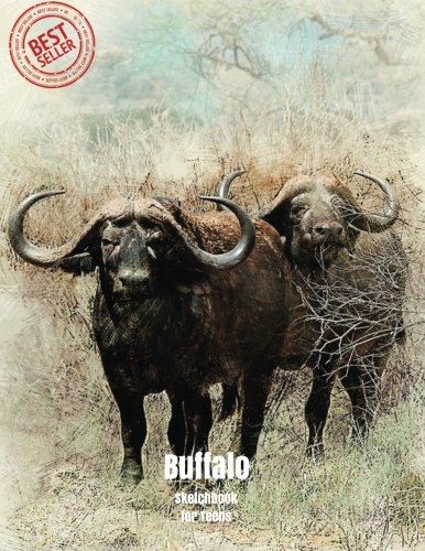 "Download Buffalo Sketchbook for Teens: Blank Paper for Drawing, Doodling or Sketching 100 Large Blank Pages (8.5""x11"") for Sketching, inspiring, Drawing ... for Teens) (Volume 36) PDF"