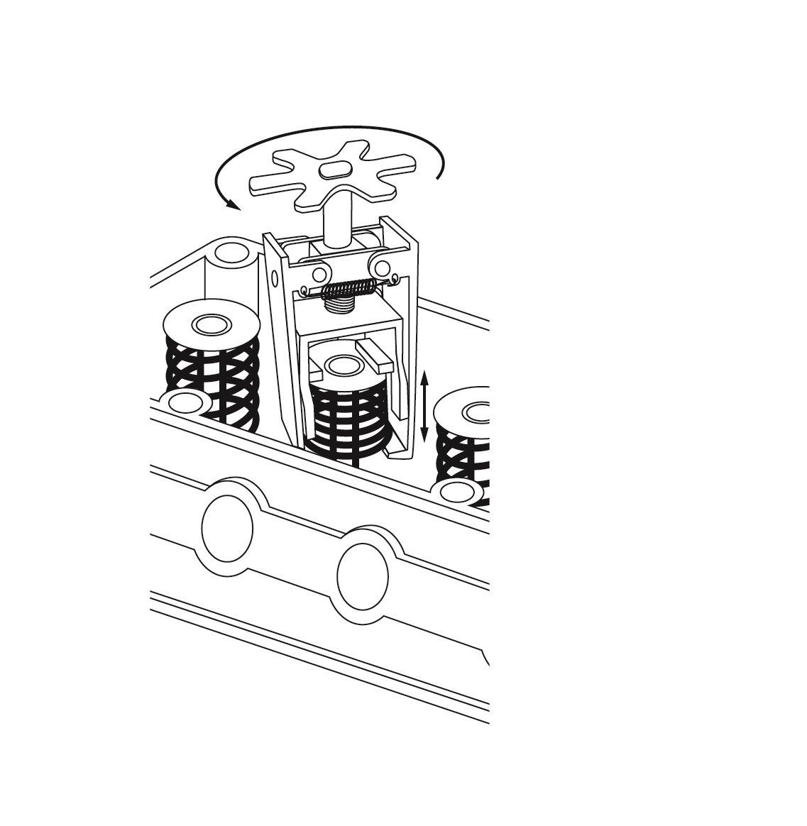 ECD Germany Compresseur de ressort de soupape Longueur de 14,5cm Diam/ètre de 7,5cm