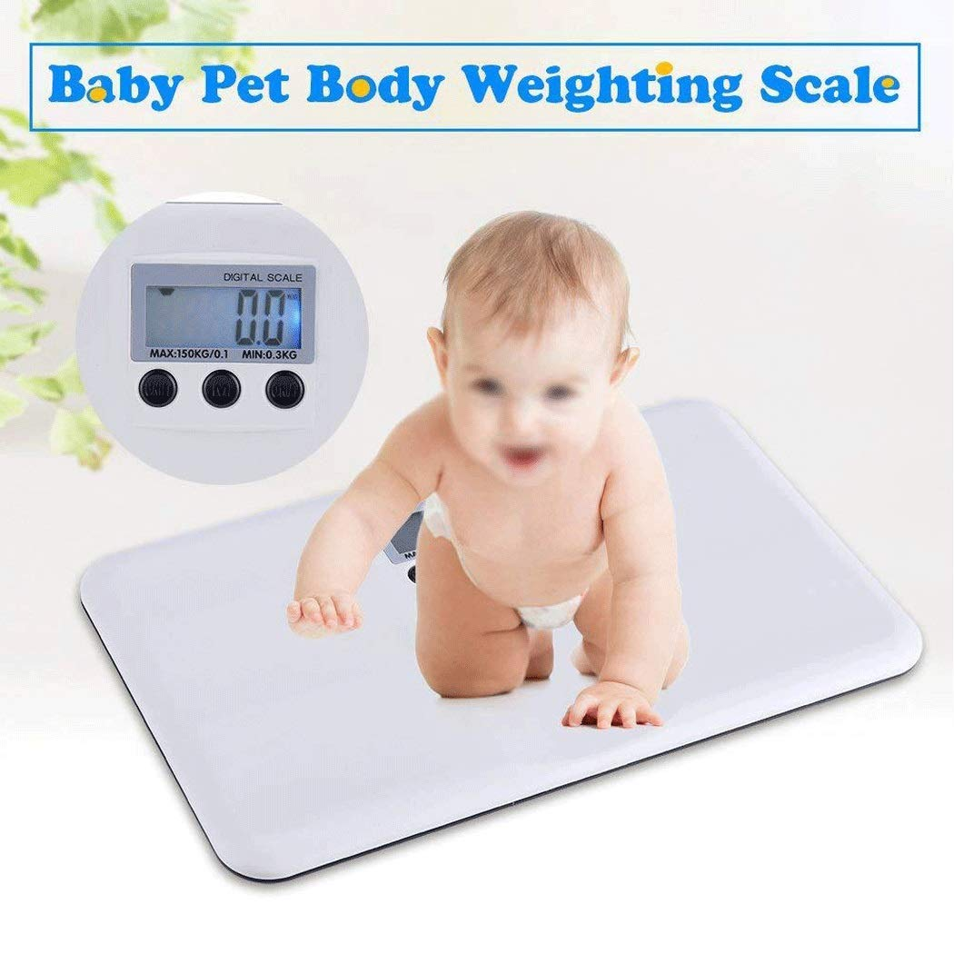 MILAIDI White Weight Scale Plastic Body Scale Maternal and Child Electronic Scale Plastic Anti-Fall Electronic Scale Pet Scale 265 160 28Mm by MILAIDI