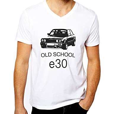 Old School Painted e30 Automotive Small Herren V-Neck T-Shirt