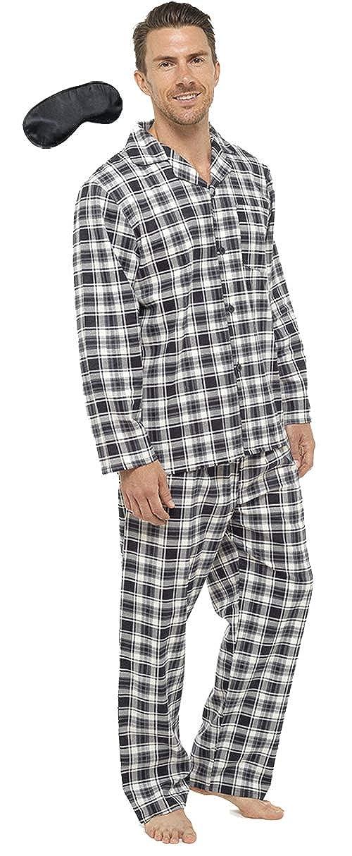 i-Smalls Herren Schlafanzug mit modernem und karriertem Design aus Baumwolle HT327
