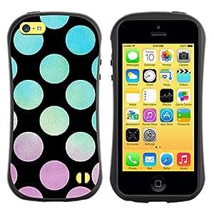 Paccase / Suave TPU GEL Caso Carcasa de Protección Funda para - Vibrant Violet Teal Sunset Pattern - Apple Iphone 5C
