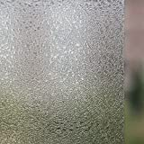 17.7-by-72-Inch Leyden Cut Glass Droplets Pattern No-Glue 3D Static Decorative Glass Window Films
