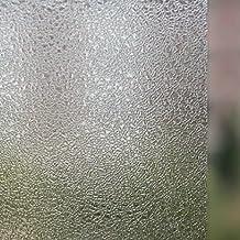 24-by-72-Inch Leyden Cut Glass Droplets Pattern No-Glue 3D Static Decorative Glass Window Films