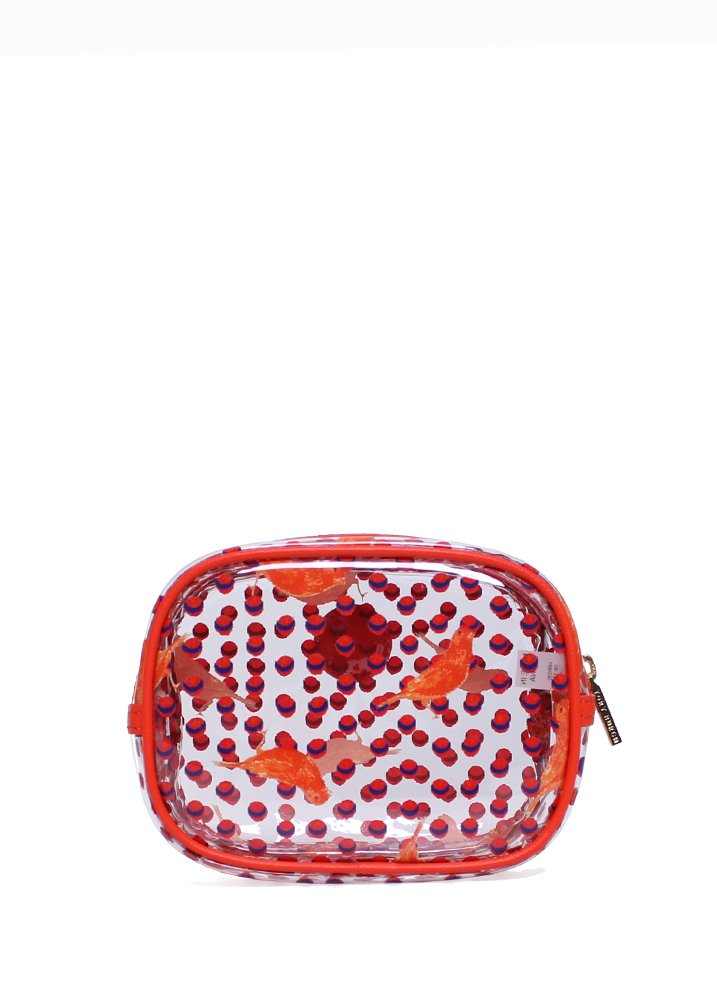 3b90d5c0766 Amazon.com   Tory Burch Lizzie Printed Small Classic Cosmetic Case in Tiger  Lily Parakeet   Cosmetic Bags   Beauty