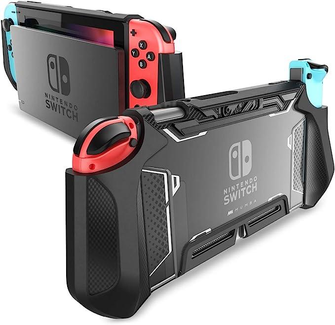 Mumba Funda acoplable para Nintendo Switch, Case Funda Protectora TPU Grip Funda de Agarre Compatible con la Consola de Nintendo Switch y Controlador Joy-con (Negro): Amazon.es: Electrónica