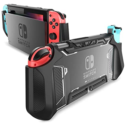 Dockable Case for Nintendo Switch - Mumba [Blade Series] TPU Grip Protective Cover Case Compatible with Nintendo Switch Console and Joy-Con Controller ...