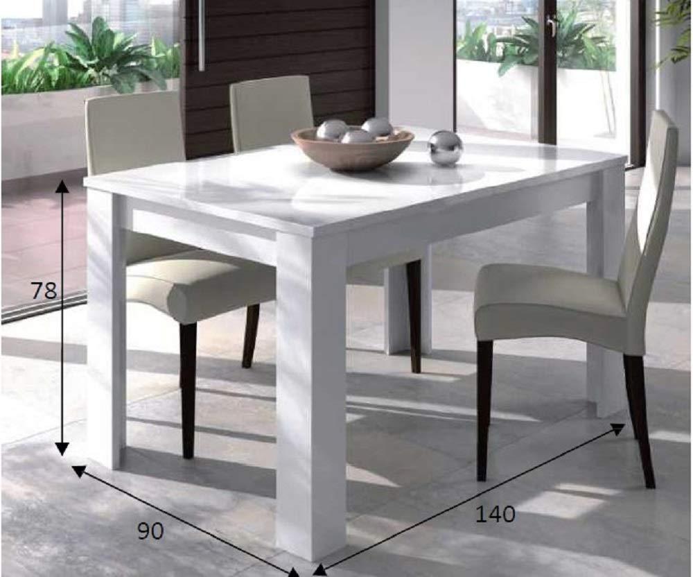 Salone Kit Table Extensible 'Kendra' cm. 90 x 140/190 x 78H biaco Brillant