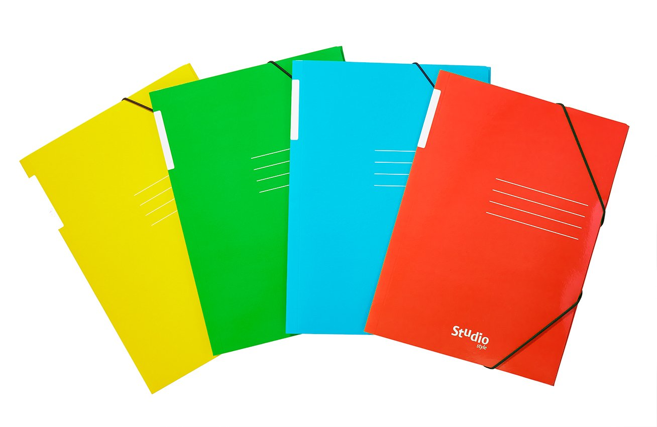 color rojo Carpeta solapas cart/ón brillo con dise/ño estudio Pardo 925602