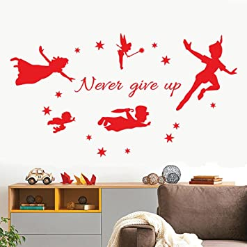 4585e4ee0 Amazon.com  Gocheaper Never Give up Wall Mural Removable Art Vinyl ...