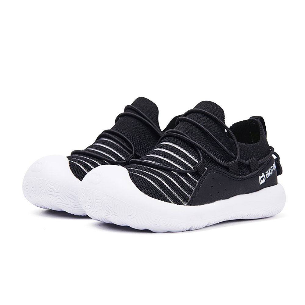 BMCITYBM Toddler Kid's Sneaker Knitted Anti-Collision Walking Running Casual Shoes Black Girls Boys