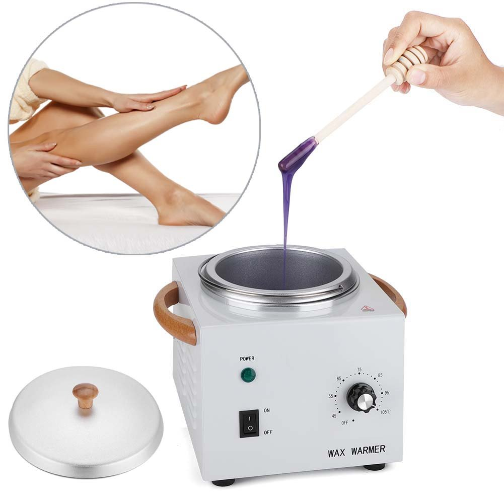 Depilatory Wax Electric Heated Machine, 150W Portable Single Pot Melt Waxing Heater Salon Spa Hair Removal Tool for Feet & Hands & Facial ZJchao