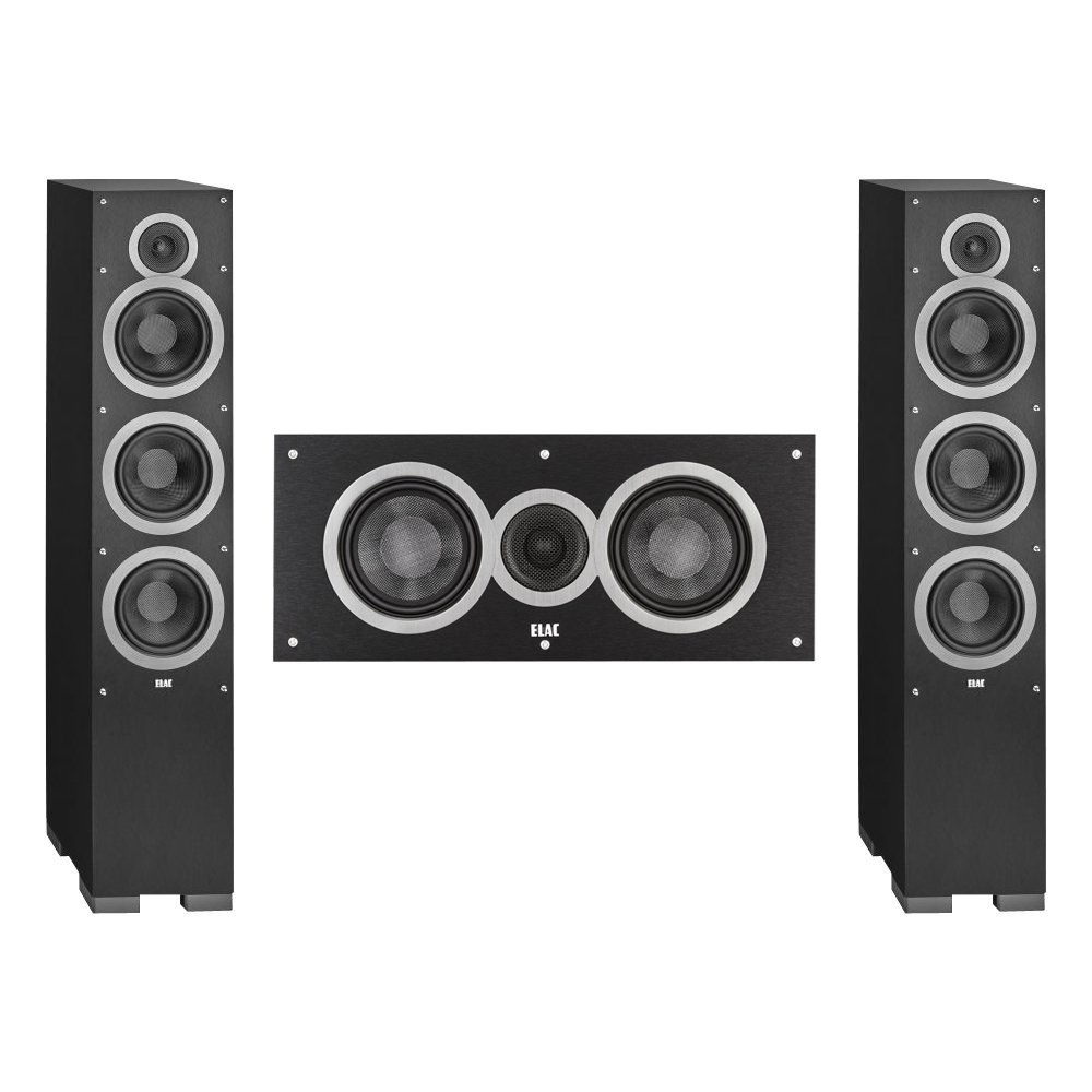 Elac 3.0 System with 2 Debut F6 Floorstanding Speakers, 1 Debut C5 Center Speaker by Elac