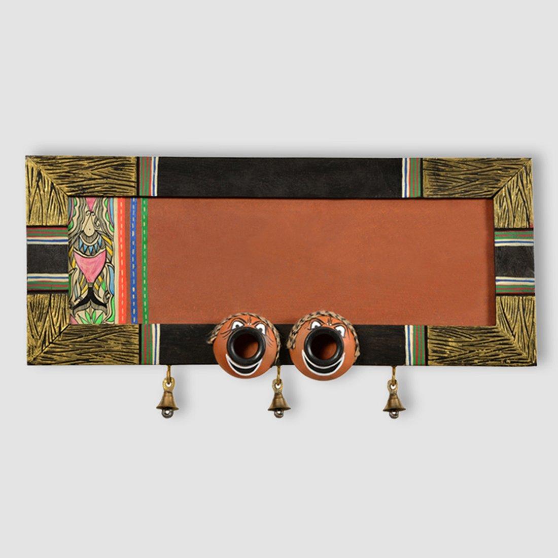 ExclusiveLane Nazar Battu Plain Name Plate With Madhubani Art-Showpiece Front Gate DÃcor Door Name Plates Wall Hanging