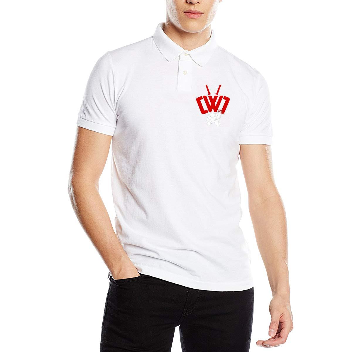 Arilce CWC Chad Wild Clay Ninja Men Polo Shirt Short Sleeve Lapel Blouse Black