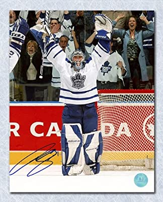 Curtis Joseph Toronto Maple Leafs Autographed Victory Celebration 8x10 Photo