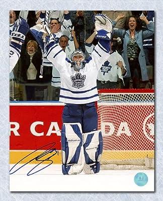 Curtis Joseph Toronto Maple Leafs Autographed Victory Celebration 8x10 Photo