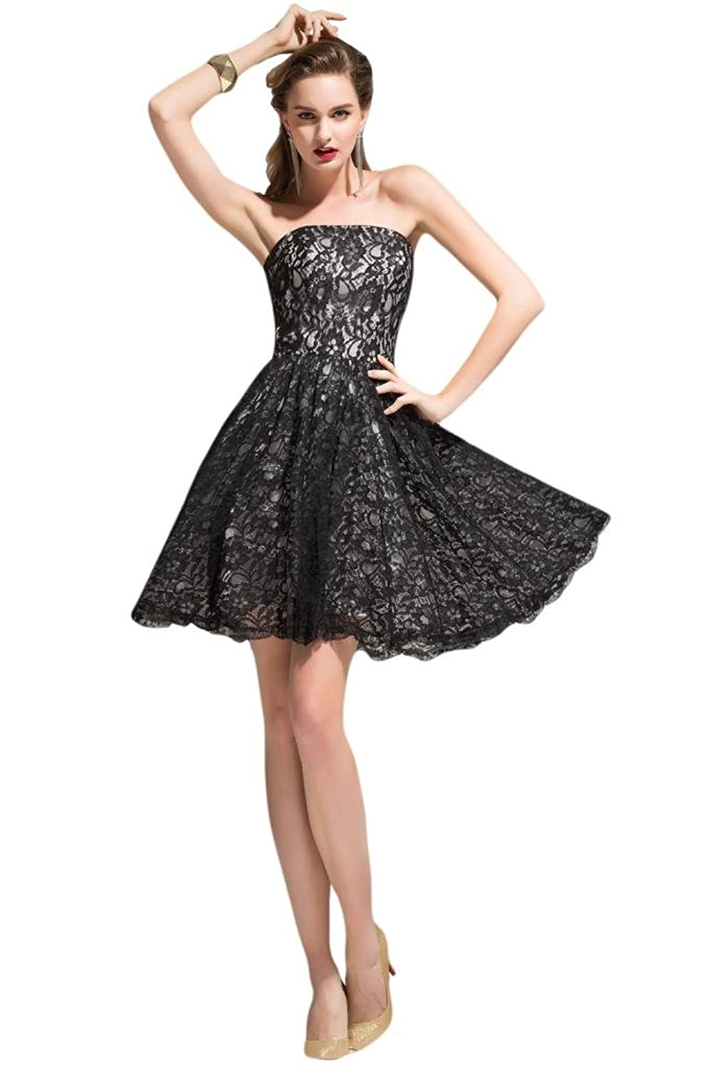 Sunvary Cute Black Lace Party Dresses Cocktail Dresses for 2015 Women