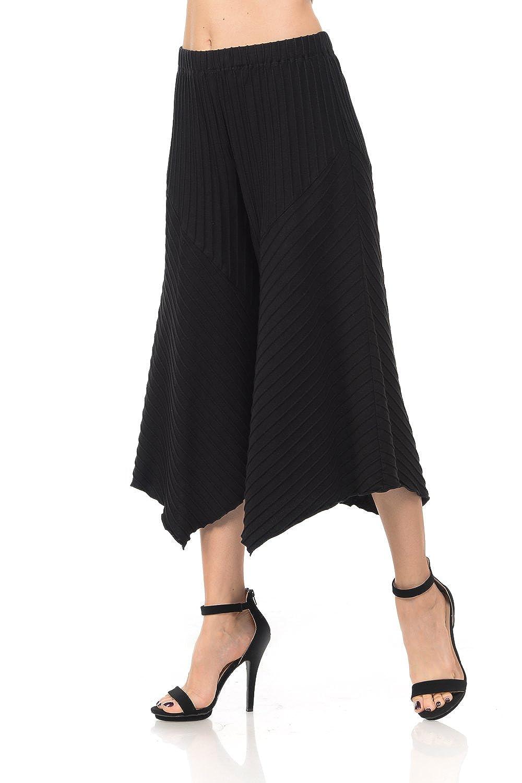 0d6ada478fe Focus Fashion Women s Cotton Texture Jersey Gaucho Capri Pant at Amazon  Women s Clothing store