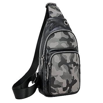 Bolsa de pecho para hombre y mujer Hombres y mujeres de un hombro honda pequeñas mochilas ...