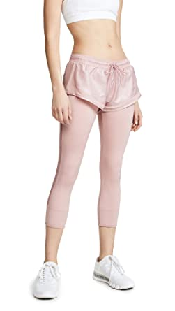 4a294e090fd adidas by Stella McCartney Women's Performance Essentials Shorts Over Tights  DT9321 Band Aid Pink X-