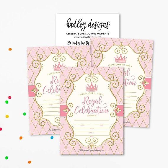 Amazon Com 25 Invitaciones De Fiesta Vintage De Princesa