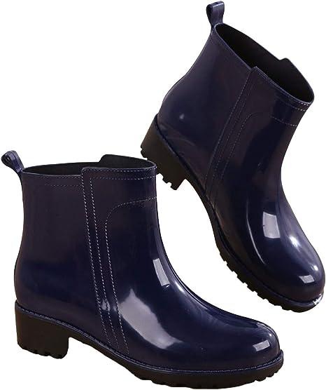 WGE Botas Azules, Zapatos de jardín para Mujer, Impermeables Antideslizantes.: Amazon.es: Deportes y aire libre
