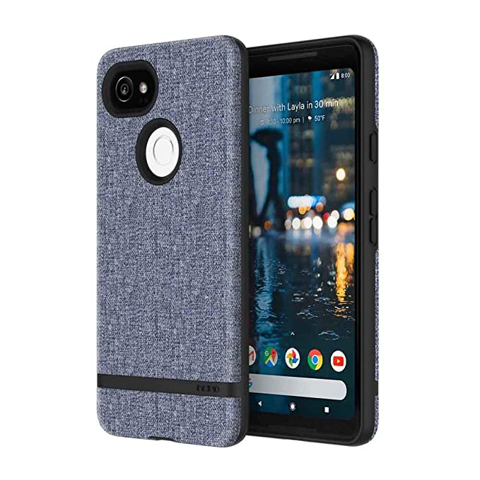 quality design cd167 aa120 Incipio Carnaby Google Pixel 2 XL Case [Esquire Series] with Co-Molded  Design and Ultra-Soft Cotton Finish for Google Pixel 2 XL - Blue