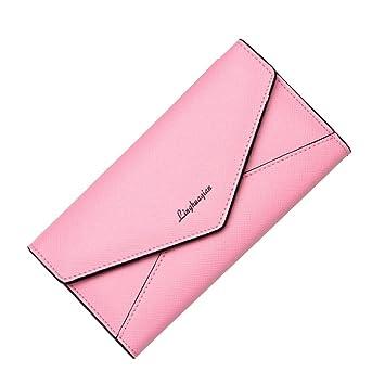 rovinci Mujeres Retro Piel sintética cartera monedero búho Impreso Kleine Cartera HASP Antebrazo Monedero, piel sintética, rosa, 19.5X11.5X2.5cm: Amazon.es: ...