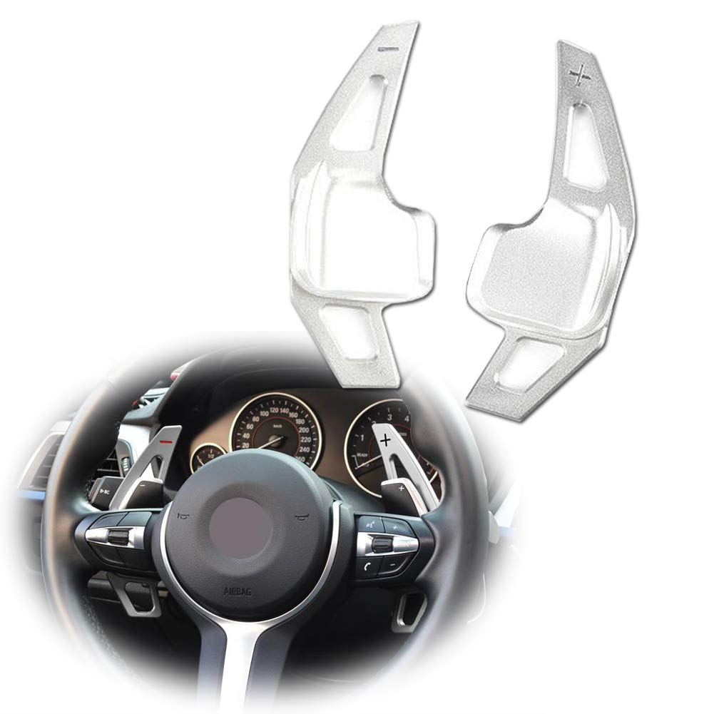 Miniclue Paddle Shifter Extensions for BMW Aluminum Metal Steering Wheel Paddle Shifter fit for BMW 2 3 4 X1 X2 X3 X4 X5 X6 series,F Chassis,Silver